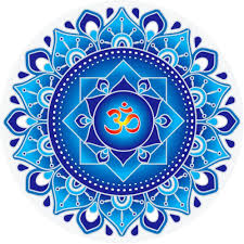Amazon Com Blue Om Mandala Window Sticker Decal 5 5 Circular Arts Crafts Sewing