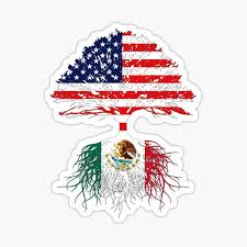 Mexican American Stickers Redbubble