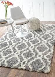 plush grey rug