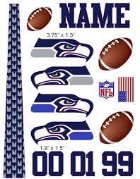 Seattle Seahawks Cranial Band Decoration From High Quality Vinyl