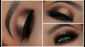 gold black halo smokey eyes amys