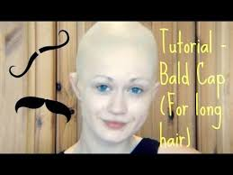 tutorial bald cap for long hair
