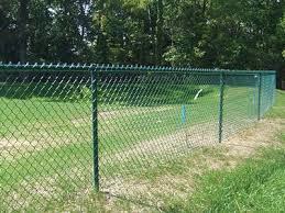 Chain Link Fence Used To Protect River Bank Garden And School