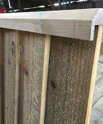 2 4m Pressure Treated Wooden Rebated Fence Capping Rail Feather Edge 7 95 Picclick Uk