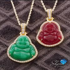 1 5ct diamond jade buddha pendant