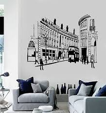 Vinyl Wall Decal England London Street Uk English Decor Stickers Mural Ig3654 Ebay