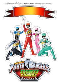 Power Rangers Toppers Para Tartas Tortas Pasteles Bizcochos O