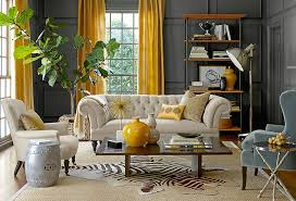 brighten up a room with yellow curtains