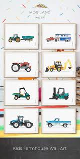 Tractor Printable Wall Art Tractor Print Tractor Nursery Boy Wall Art Kids Transportation Wall Art Farm Toddler Room Decor Farmhouse In 2020 Boy Room Art Nursery Room Boy Boy Room
