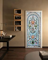 3d Self Adhesive Stained Glass Window Living Room Door Murals Wall Sticker Ebay