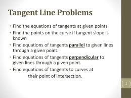 ppt tangent line problems powerpoint