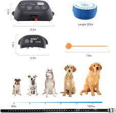 Amazon Com Kofohon In Ground Electronic Dog Fence System Wired Underground Electric Pet Containmen Kit Rechargeable And Ip66 Waterproof Beeper Shock Training Modes For 1 2 Small Medium Large Dogs 700ft Wire Pet Supplies