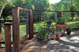 Wild Hog Railing Wire Mesh Fence Design Hog Wire Fence Backyard Fences