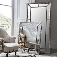 silver framed full length mirror 157 x