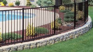 Curved Fence Installation On A Property Line Curve