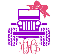 Jeep Decal Jeep Girl Girl Decal Monogram Decal Jeep Etsy