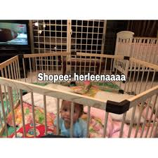 Wooden Baby Safety Playpen Shopee Malaysia