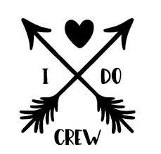 Amazon Com Celycasy I Do Crew Wedding Bridal Party Vinyl Decal Electronics And Accessories Decal Baby