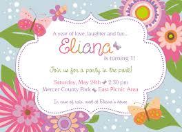 Flower Birthday Invitation Park Party Invitaciones