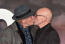Patrick Stewart shares tender kiss with Ian McKellen and love is real