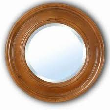 china round wooden framed wall bathroom