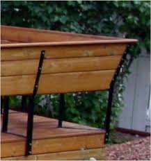 Steel Bench Brackets And Deck Seating