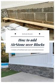 cover unsightly cement block foundation