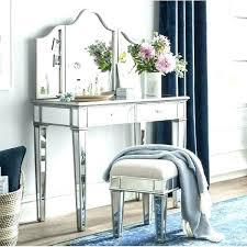 mirrored vanity stool dressing table