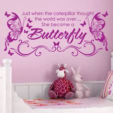 She Became A Butterfly Vinyl Wall Decals Saying By Sunshinegraphix 20 99 Wall Vinyl Decor Vinyl Wall Decals Wall Decals