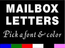 Custom Mailbox Letters Vinyl Sticker Decal One Letter Ebay