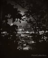 Print Collection - Night View through Trees of Pittsburgh, W. Eugene Smith
