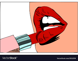 pop art makeup closeup of y