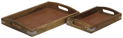 serving trays handmade in wood
