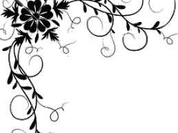 simple flower border designs for