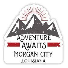 Morgan City Louisiana Souvenir 4 Inch Vinyl Decal Sticker Adventure Awaits Design Walmart Com Walmart Com