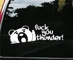 Thunder Buddy F Ck You Thunder Jdm Decals 7 Inch Customstickershop On Artfire