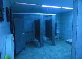 blue lights to deter use