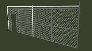 Low Poly Fences 3d Model Turbosquid 1568234
