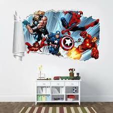 Marvel Super Hero Avengers 3d Torn Hole Ripped Wall Sticker Decal Art Mural Wt59 Ebay