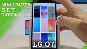how to change wallpaper on lg q7 set