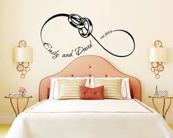 Family Wall Decal Custom Names Love Infinity Sign Vinyl Sticker Bedroom Fd174 Ebay