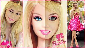 barbie makeup tutorial costume idea