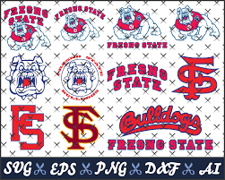 Fresno State Bulldogs College Logos Svg Files For Cricut Silhouette Cameo Cliparts Layered Svg Eps Dxf College Logo Fresno State Svg Files For Cricut