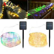 solar led fairy copper wire solar rope