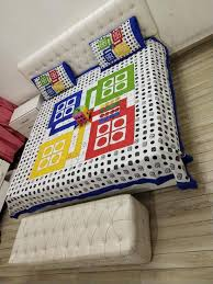 V R Textile Ludo Bedsheets With Dice Of Double Bed For Kids Or Children Room Jaipuri Cotton Ludo Printed Double Bedsheet Buy Online In Jamaica V R Textile Products In Jamaica See