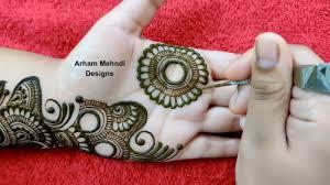 beginner mehndi design easy front hand