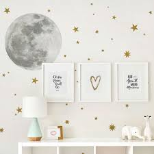 Harriet Bee Moon And Stars Wall Decal Reviews Wayfair