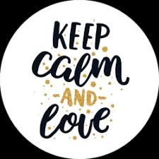 Keep Calm And Love Sticker