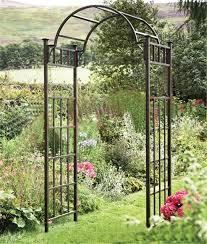iron garden arches patio door