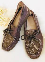 sperry top sider studded leather boat